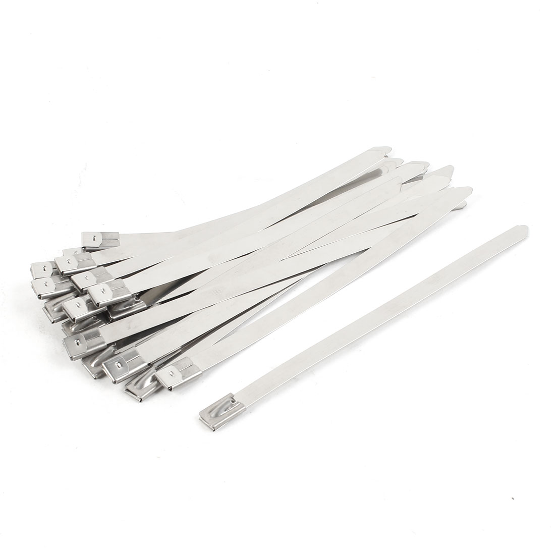 25Pcs Stainless Steel Coated Zip Tie 150x8mm for Pipe Hose Cable