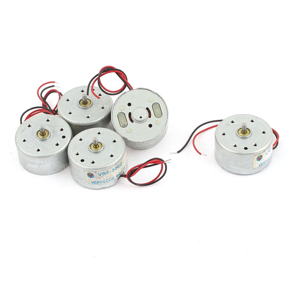5 Pcs 10000RPM 25mm Diameter Wired Mini Motor DC 6V