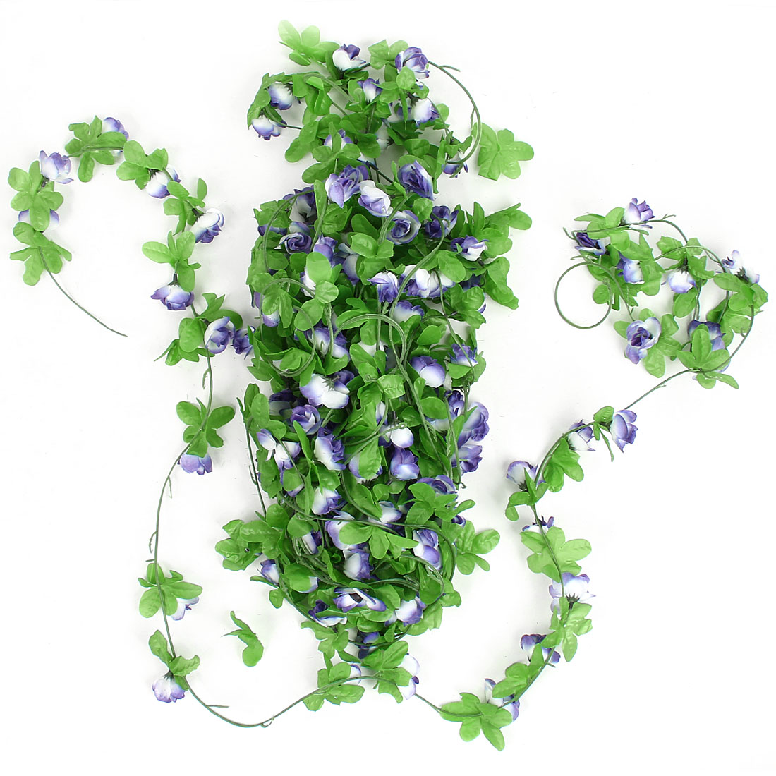 2.5M Long Green Fabric Floral Artificial Hanging Vine Wedding Home Party Ornament 5PCS