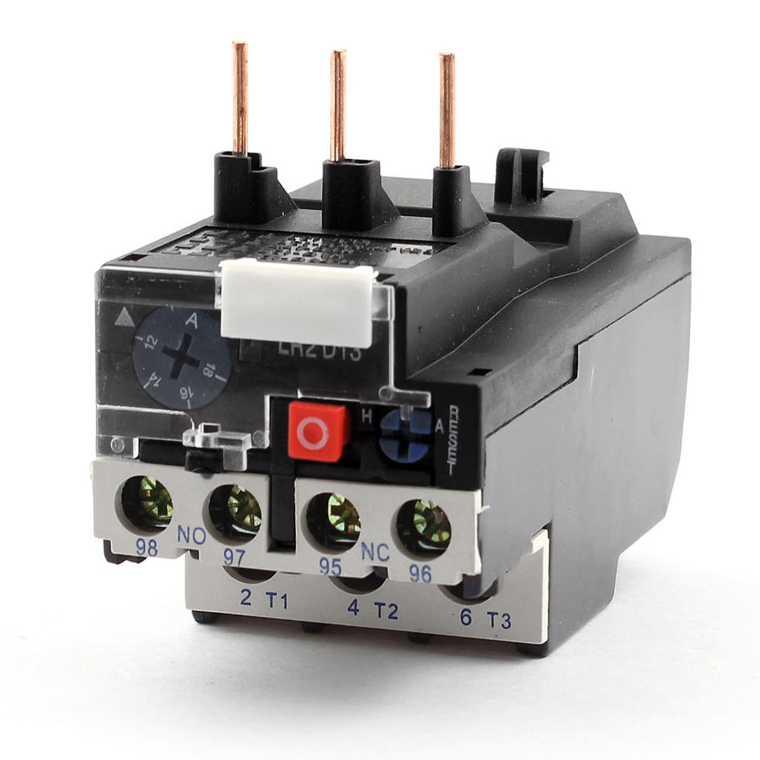 JR2D13 1NO 1NC 3 Phases 12-18A Adjustable Motor Protector Electric Thermal Overload Relay