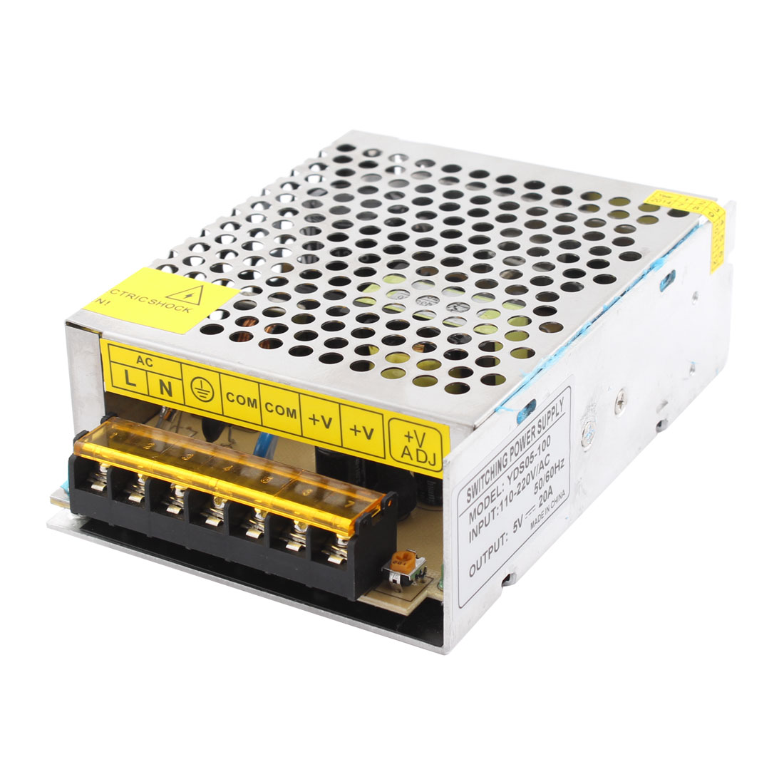 YDS05-100 DC 5V 20A 100W 7 Screw Terminals Switching Power Supply Driver for LED Strip Light