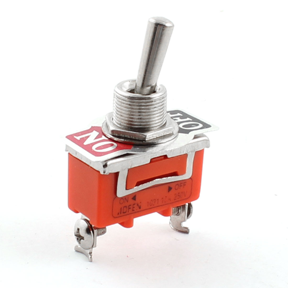 ON-OFF 12mm Thread Diameter 2 Position 2-Terminals SPST Toggle Switch AC 250V 15A