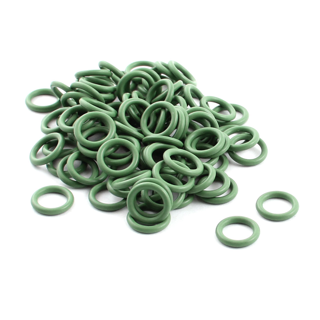 100 Pcs Green Rubber 9mm x 6mm x 1.5mm Oil Seal O Rings Gaskets Washers
