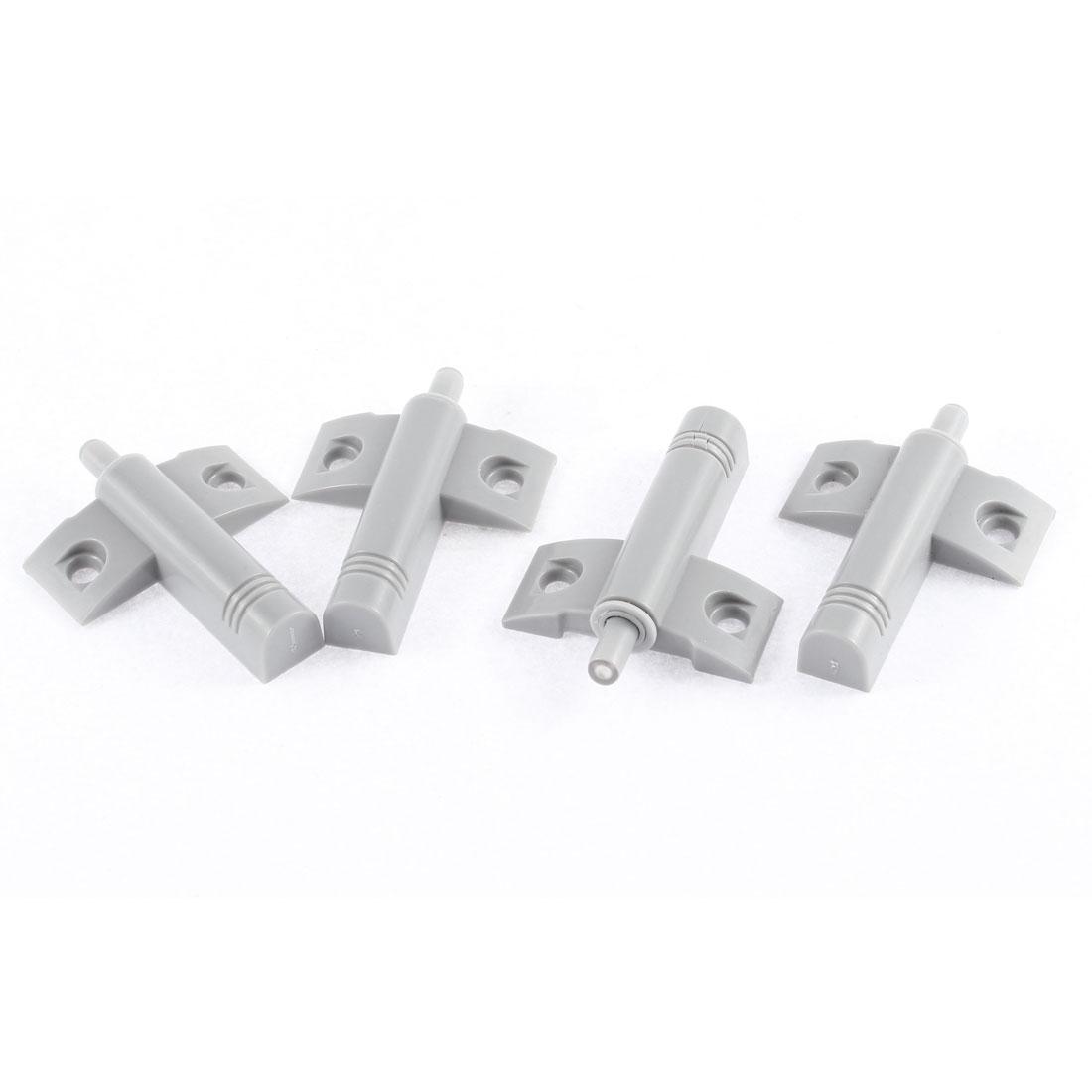 4Pcs Gray Plastic Screw Mounted Cabinet Cupboard Door Damper Buffers