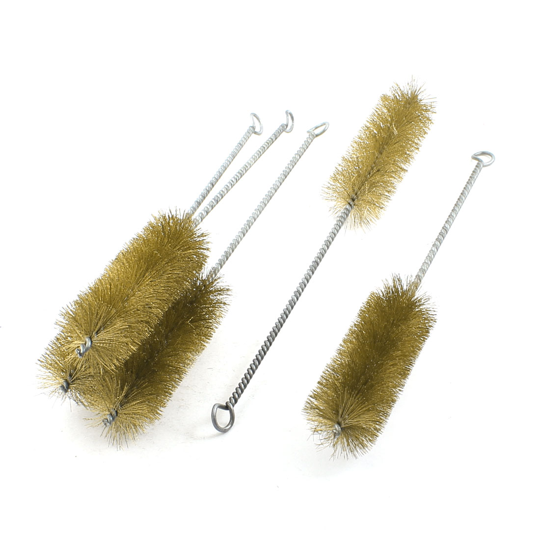 5 Pcs 40mm Diameter Steel Wire Tube Brush Cleaning Tool 32cm Length