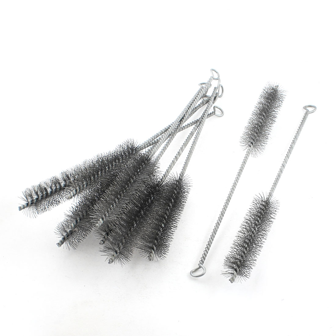 10Pcs 30mm Diameter Steel Wire Tube Brush Cleaning Tool 32cm Length