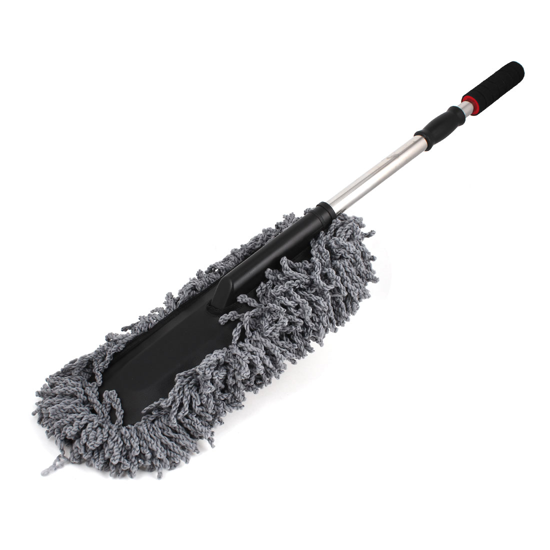 Gray Chenille Microfiber Auto Car Wax Treated Duster Dust Brush 30cm x 18cm