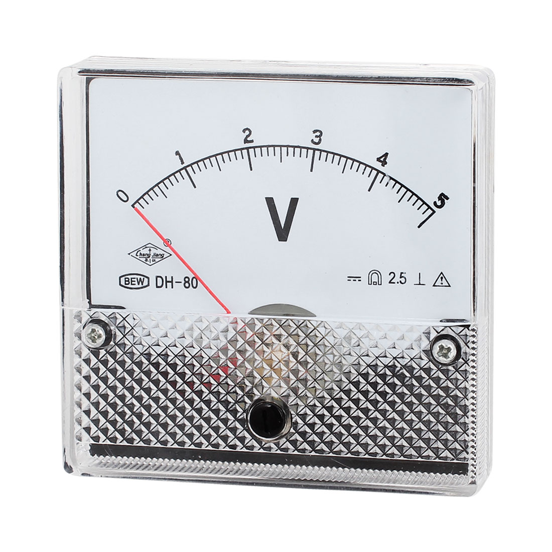 Square Shaped Class 2.5 Accuracy Voltage Panel Meter Voltmeter DH-80 DC 0-5V