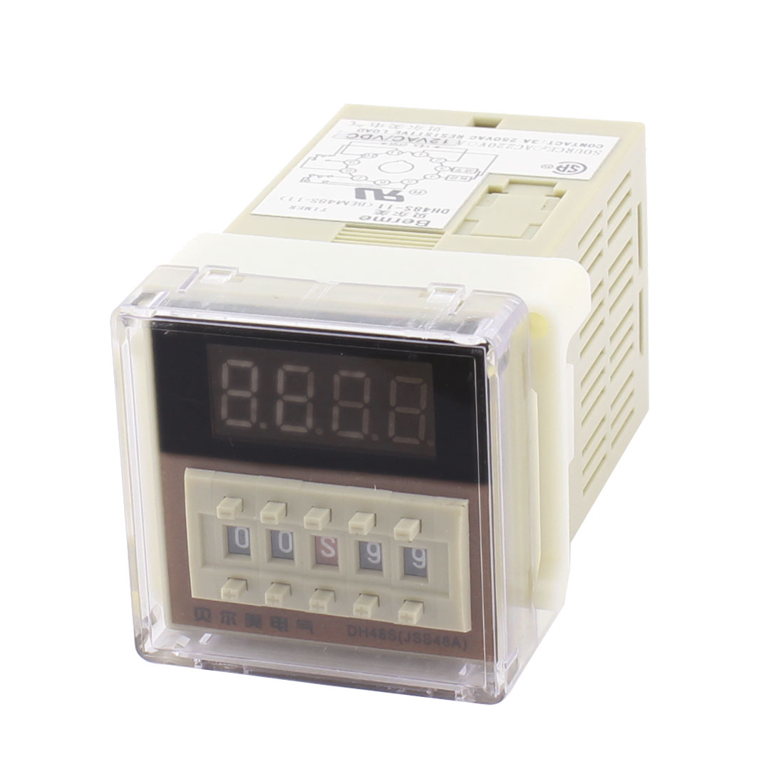 AC/DC12V DH48S-11 Panel Mount DPDT 11Pin 0.01s-99H99M Adjustable Time Delay Control Programmable Timer Relay