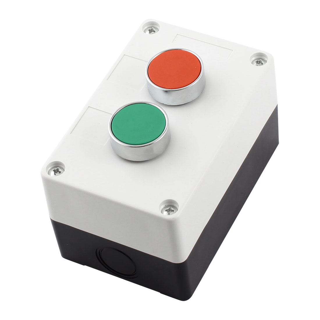 Red Green Cap NO NC Contact Momentary Action Push Button Station