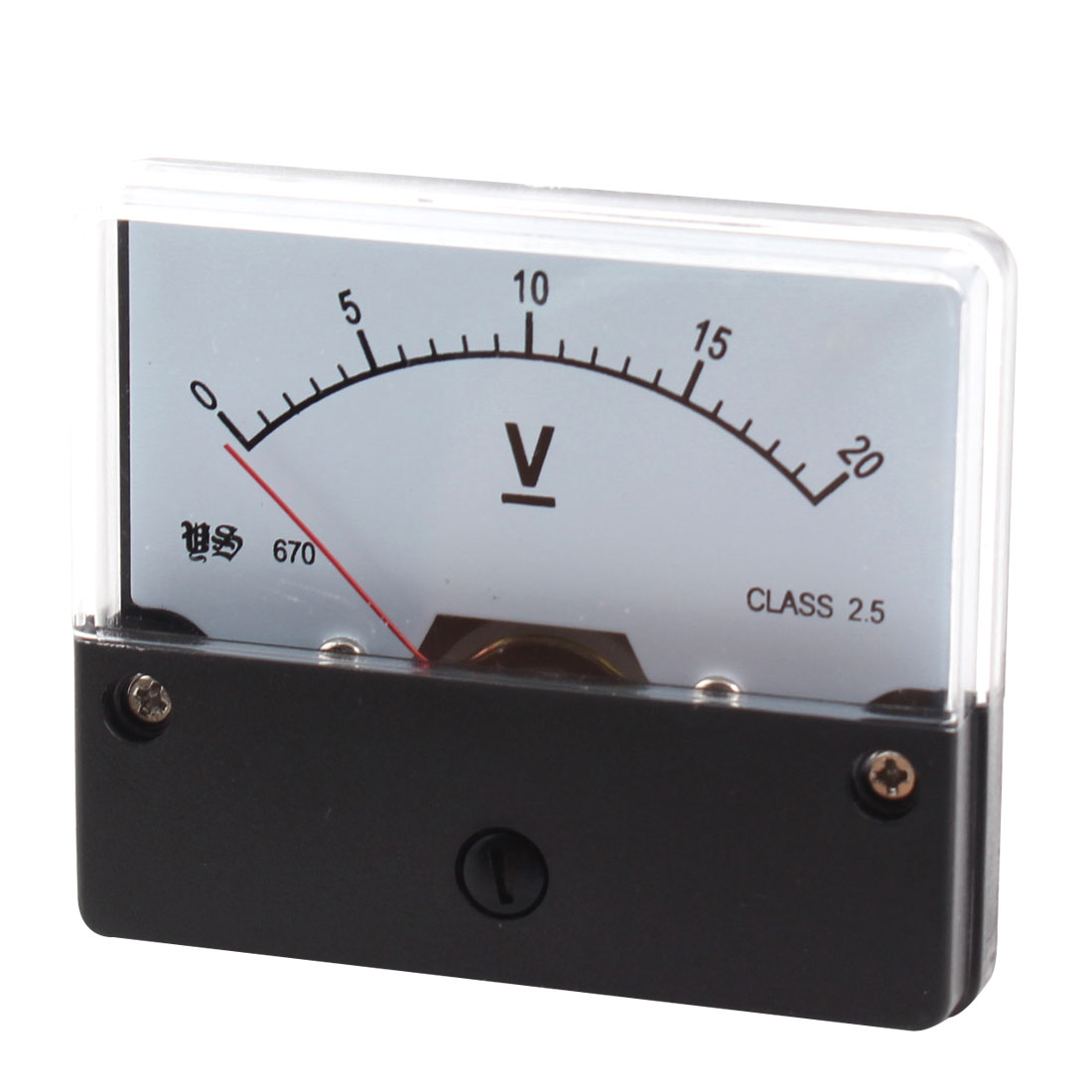 DC 0-20V Rectangle Analog Panel Volt Meter Voltmeter Gauge