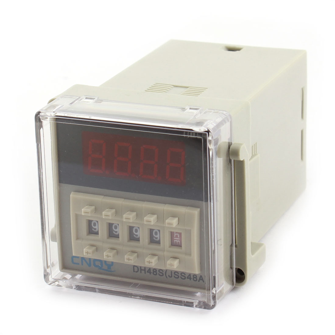 DC12V DH48S-11 Panel Mount DPDT 8Pin 0.01s-9999H Adjustable Time Delay Control Programmable Timer Relay w Plug in Base Socket