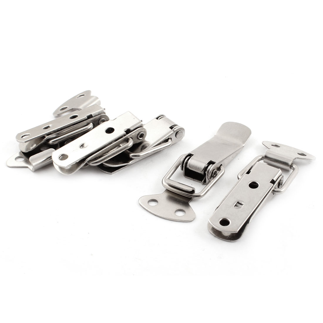 "5Pcs Case Box Locking 1.7"" Long Metal Toggle Latch Hasp w Strike Set"