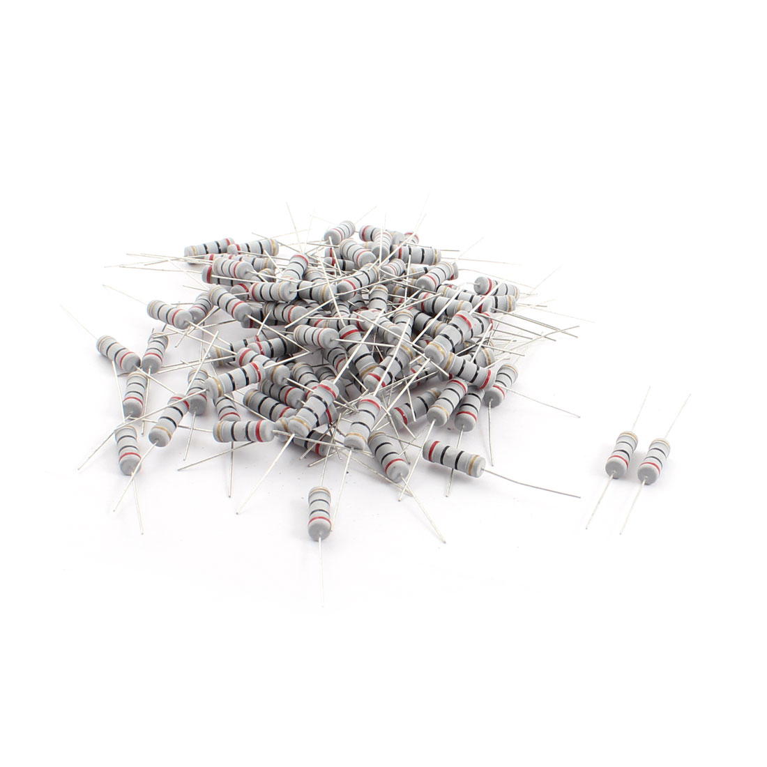 100pcs 20 Ohm 2W 5% Tolerance Axial Lead Metal Oxide Film Resistors