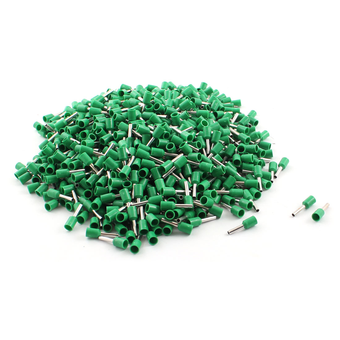 1000Pcs E1508 16AWG Green Tube Tublar Style Plastic Insulated Cable Wire Ends Terminals