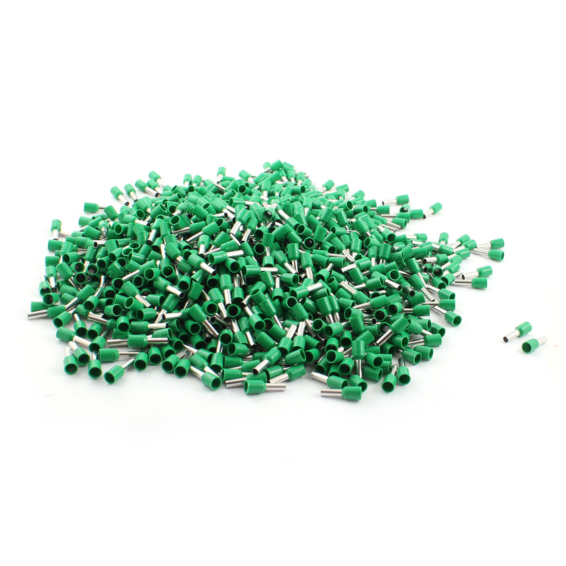 1000Pcs E4009 12AWG Green Tube Tublar Style Plastic Insulated Cable Wire Ends Terminals