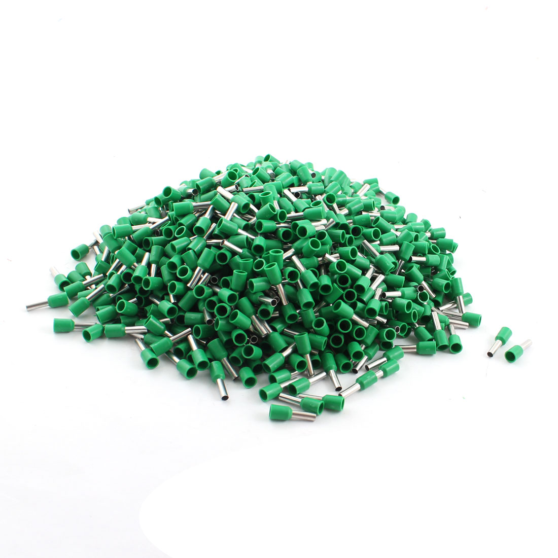 1000Pcs E2508 14AWG Green Tube Tublar Style Plastic Insulated Cable Wire Ends Terminals