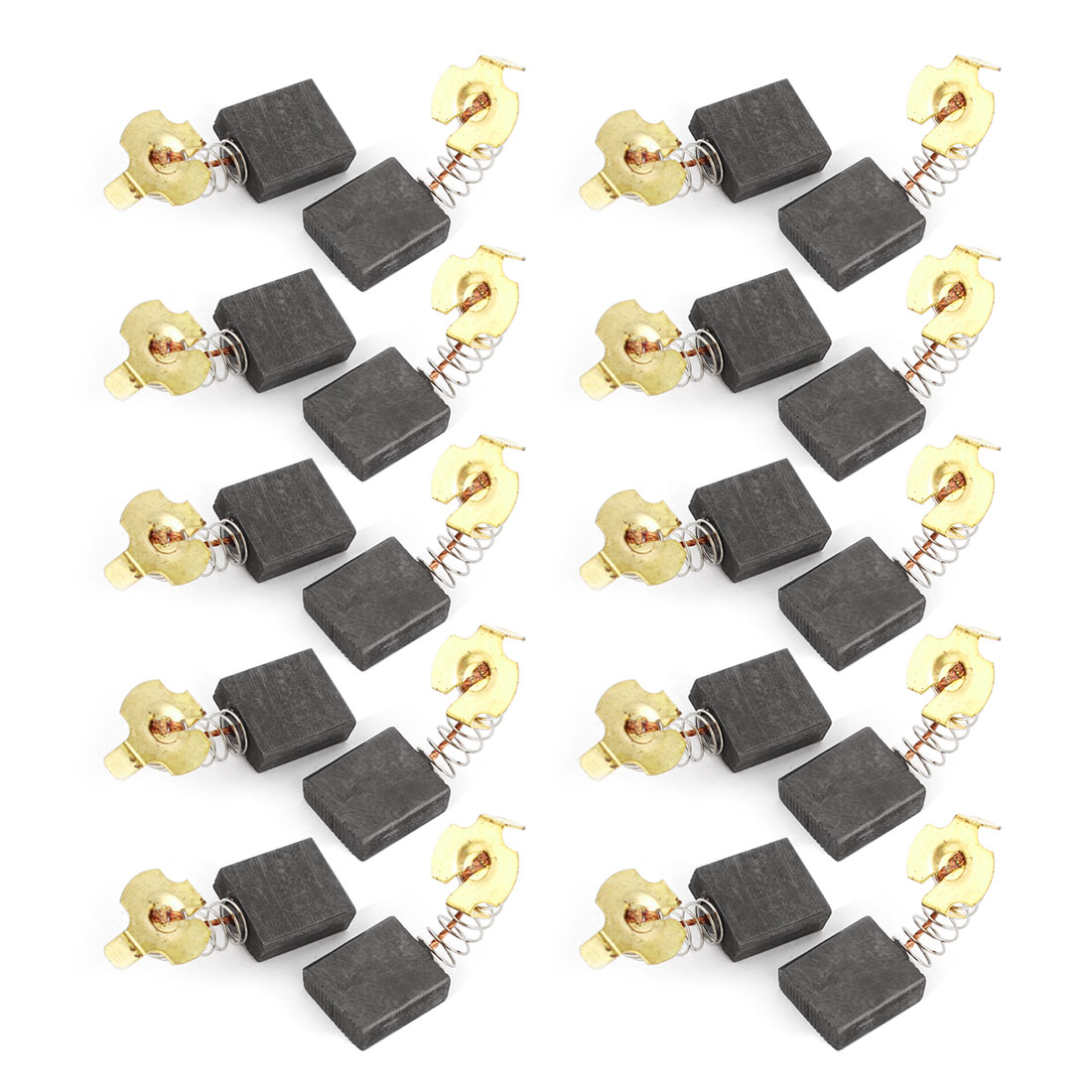 20 Pcs Spare Part Spring Type Electric Drill Motor 19mm x 16mm x 7mm Carbon Brushes