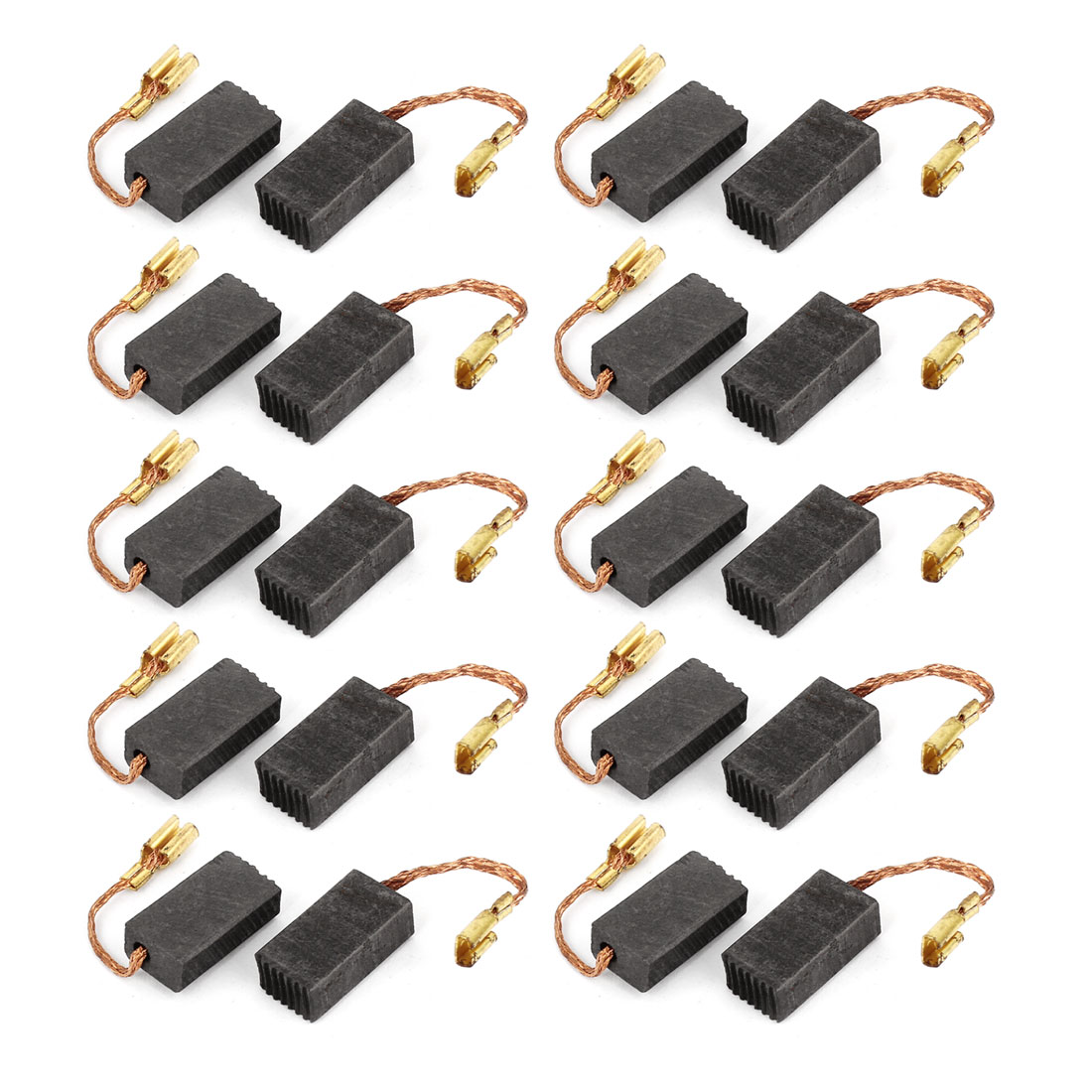 20 Pcs Spare Part Spring Type Electric Drill Motor 15mm x 8mm x 5mm Carbon Brushes