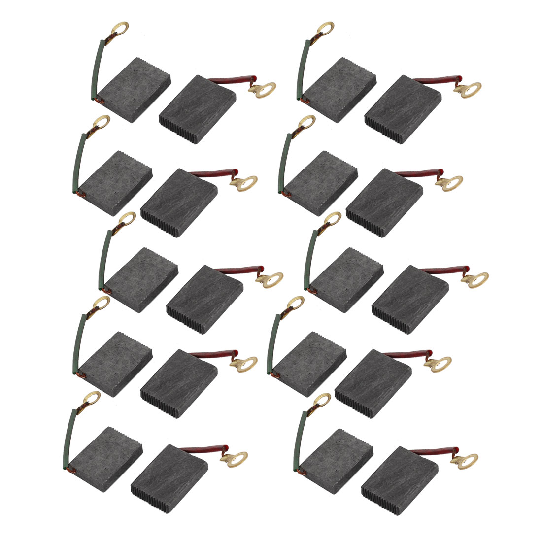 20 Pcs Spare Part Spring Type Electric Drill Motor 21mm x 16mm x 5mm Carbon Brushes