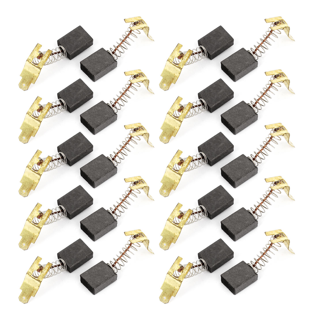 20 Pcs Spare Part Spring Type Electric Drill Motor 18mm x 13mm x 6mm Carbon Brushes