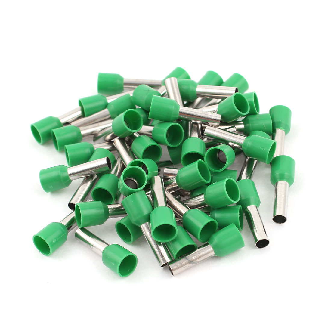 50 Pcs 6mm2 Crimp Cord Wire End Terminal Insulated Bootlace Ferrule Connector Green