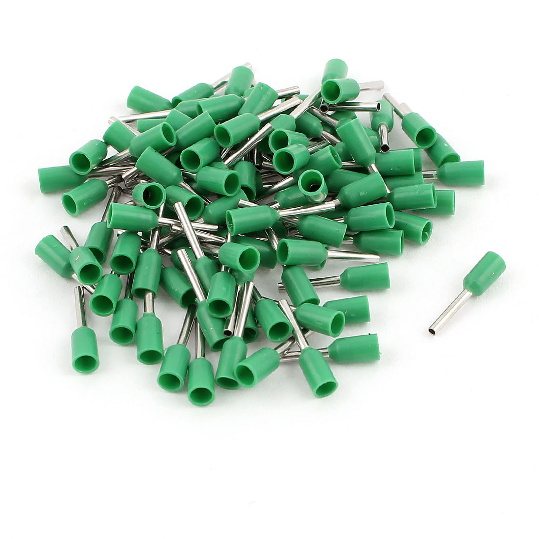 100 Pcs 0.5mm2 Crimp Cord Wire End Terminal Insulated Bootlace Ferrule Connector Green