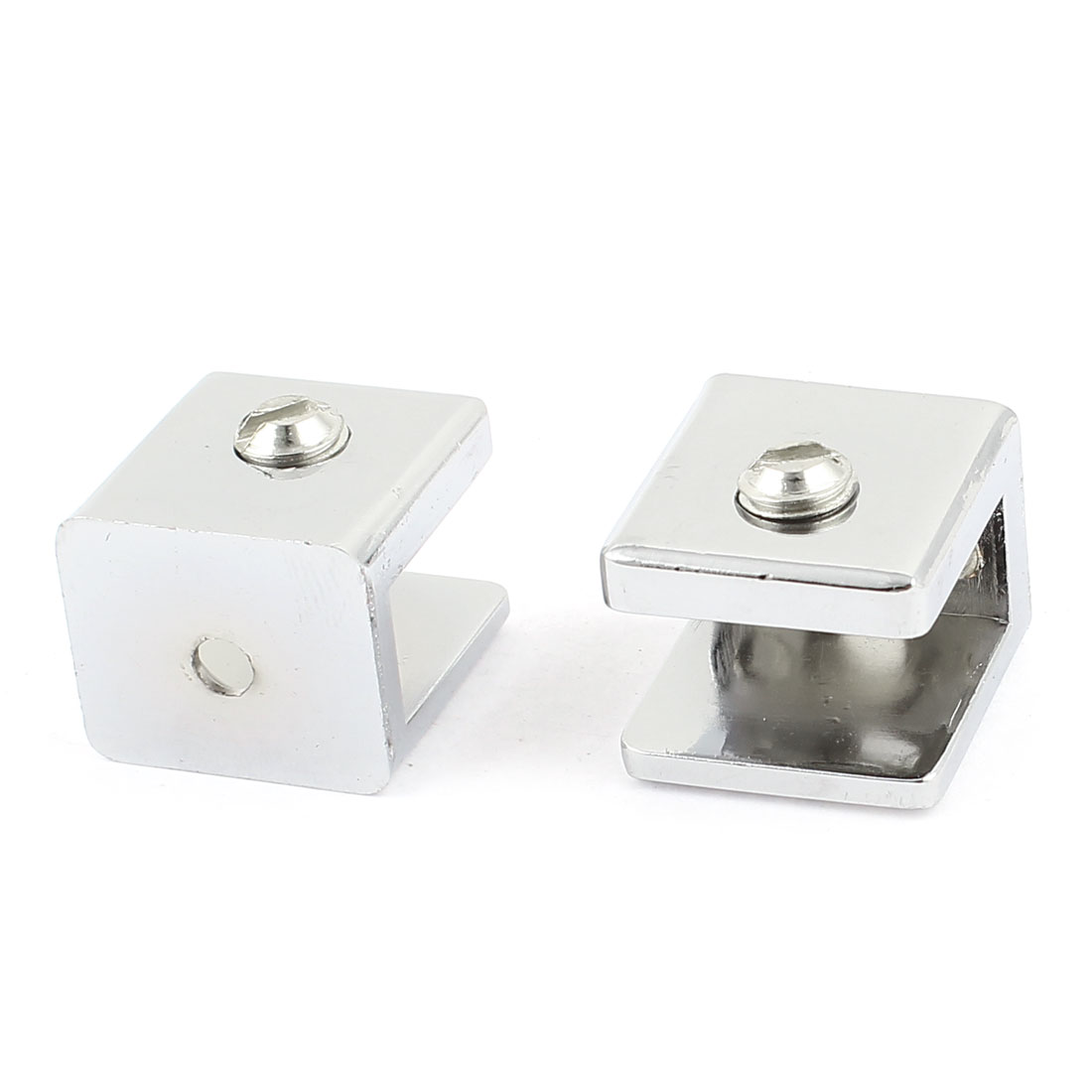 8mm-10mm Thickness Adjustable Square Shape Glass Clip Clamp 2 Pcs
