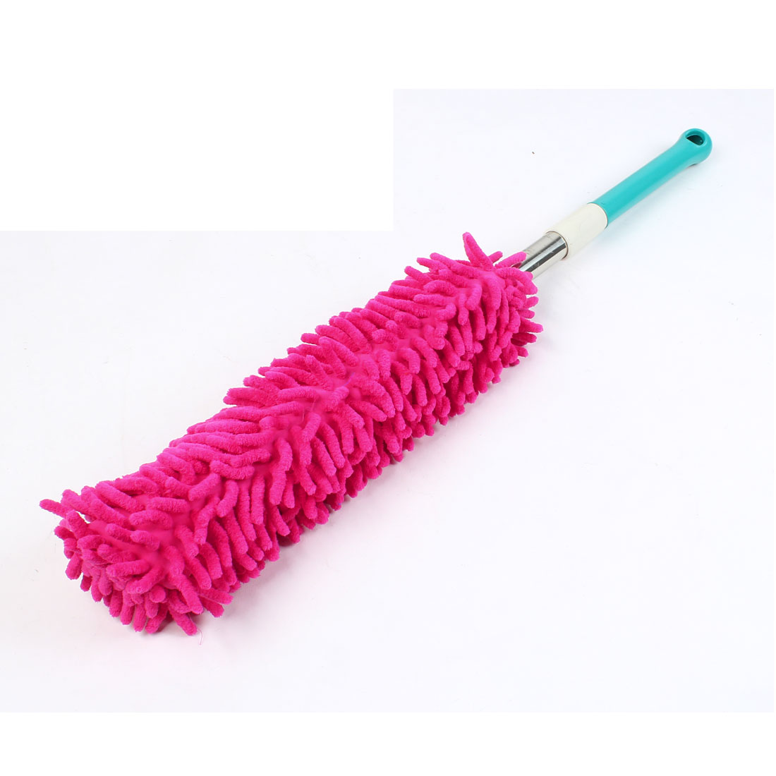 Extendable Nonslip Plastic Grip Microfiber Car Dirt Duster Waxing Brush Fuchsia