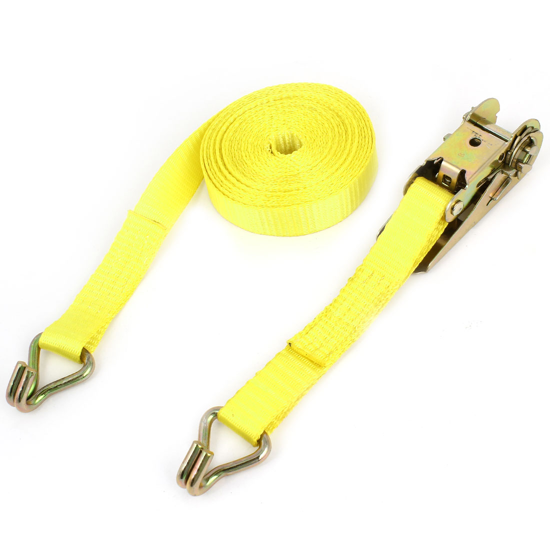 Truck 1500 lbs 2 J Hooks Ratchet Tie Down Strap Rope 4.5m Long 25mm Width