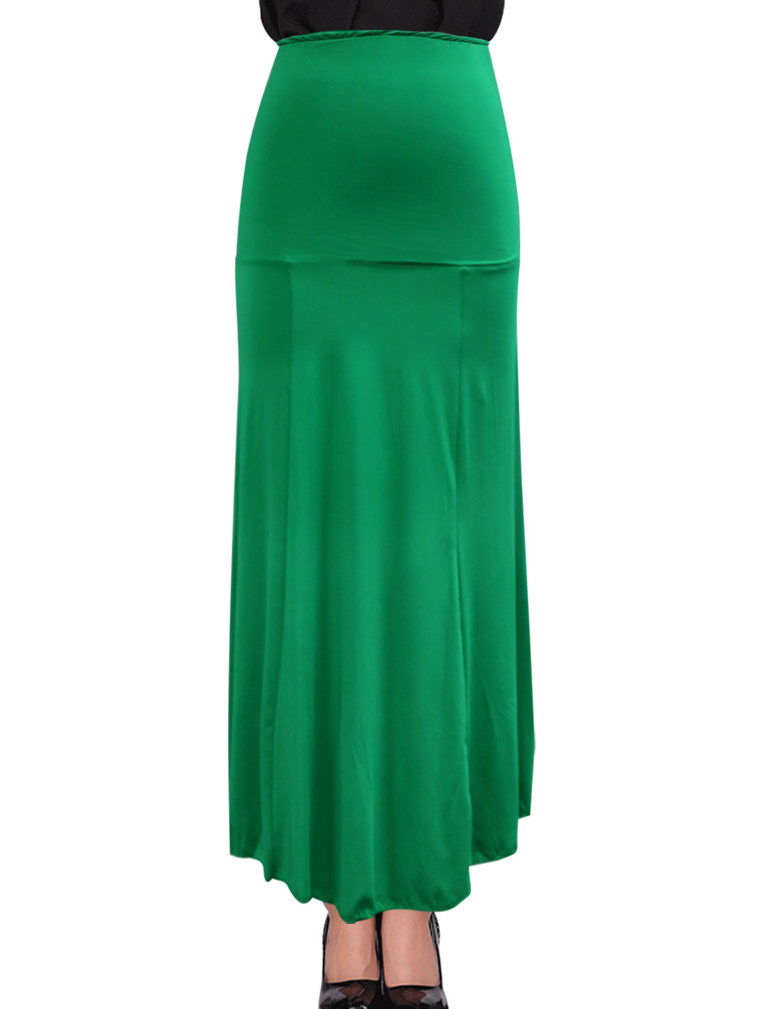Stylish Unlined Design Ankle Length Green Beach Skirt for Woman M