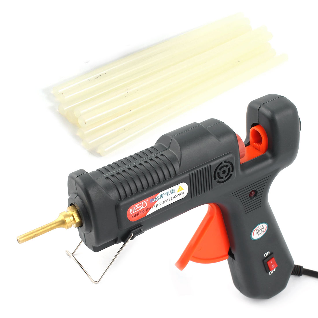 US Plug AC 110-240V 80W Heating Hot Melt Glue Gun + 10 Pieces Sticks
