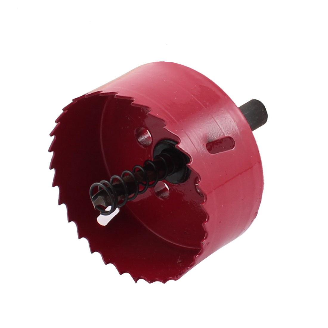 Red 6mm Twist Drill Bit Wood Cutting 65mm Dia Bimetal Hole Saw Cutter