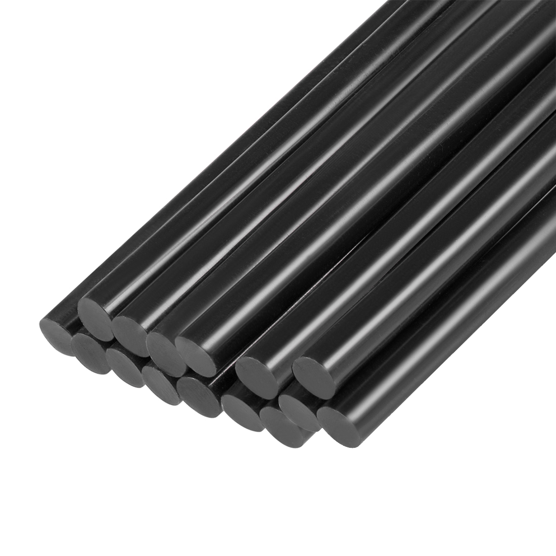 15 Pcs 11mm Dia 270mm Long Crafting Models Black Plastic Hot Melt Glue Sticks