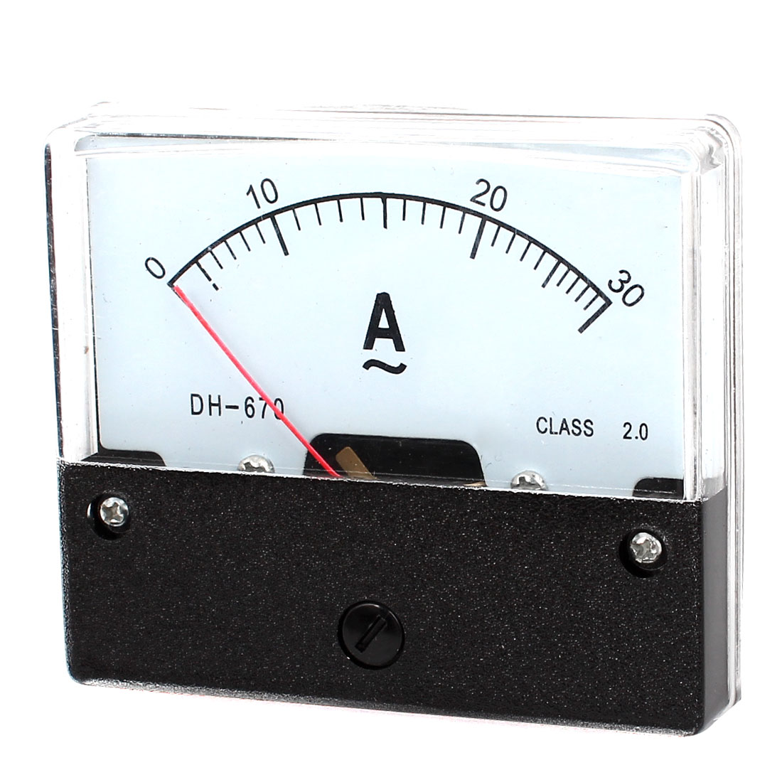 AC 0-30A Rectangle Shape Analog Panel Meter Ammeter Gauge DH-670 4pcs