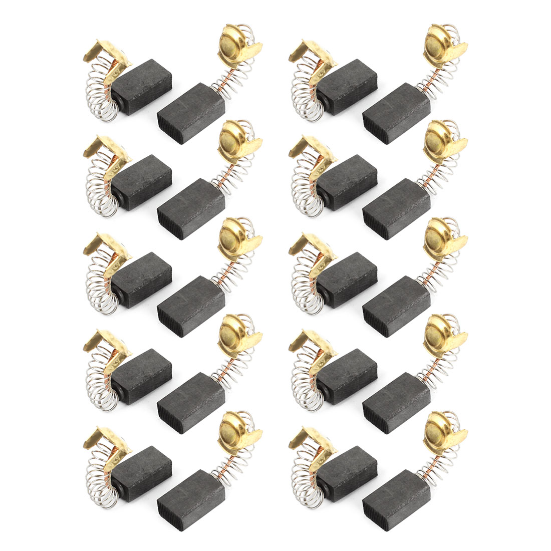 20 Pcs Spare Part Spring Type Electric Drill Motor 18mm x 11mm x 7mm Carbon Brushes