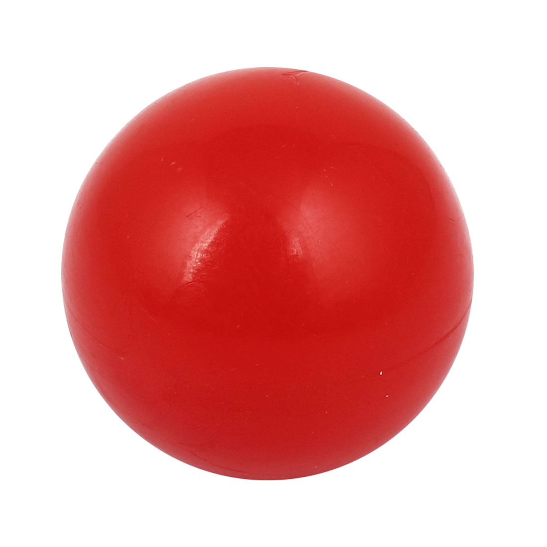 M9 x 25mm Female Thread Red Round Plastic Lever Ball Knob 31mm Diameter