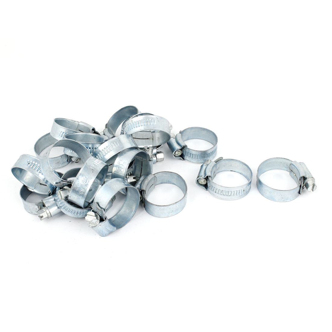 20 Pcs 22-32mm Range 12mm Width Adjustable Band Worm Drive Hose Clamps