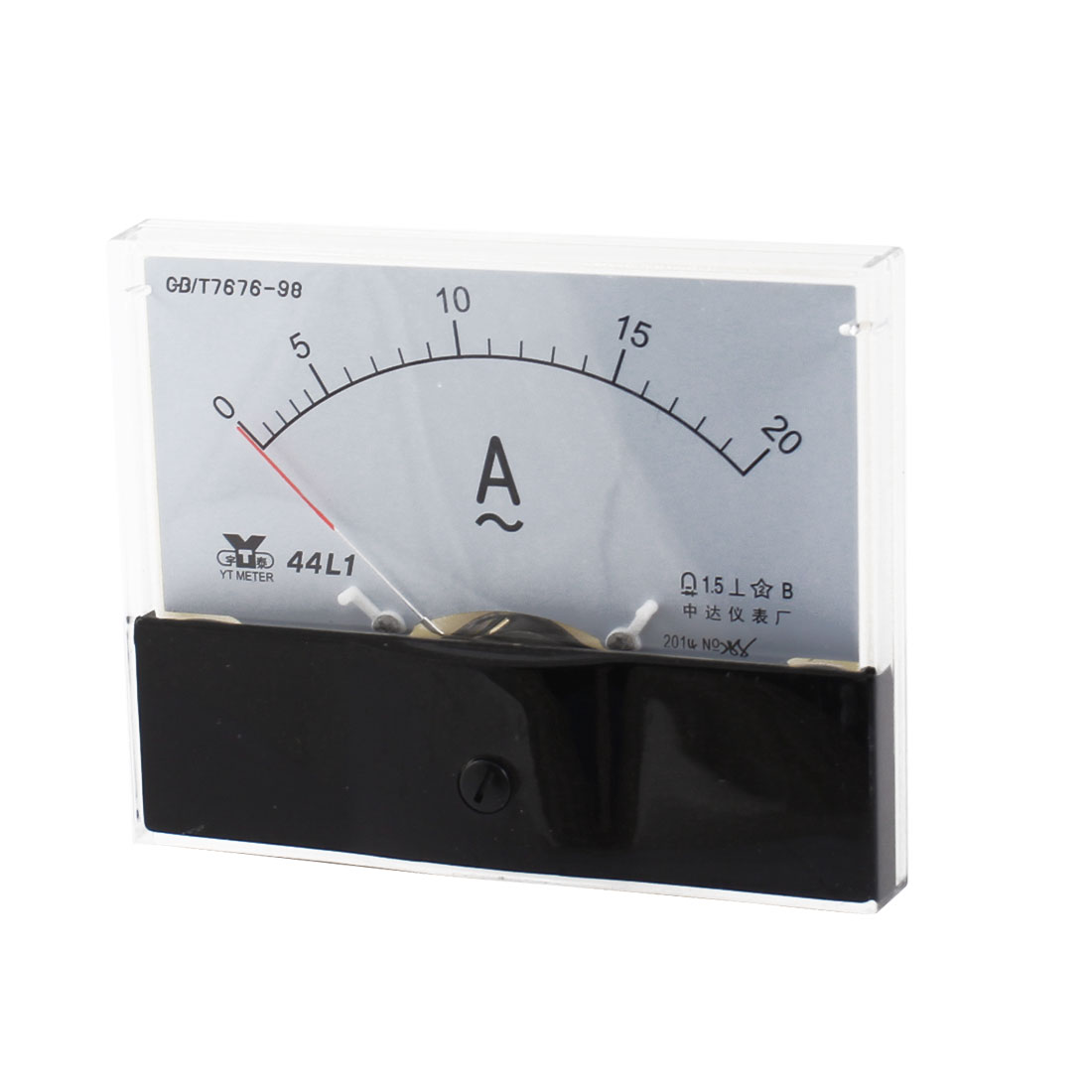 Analog Rectangle Panel 0-20A Gauge AC Current Meter 44L1