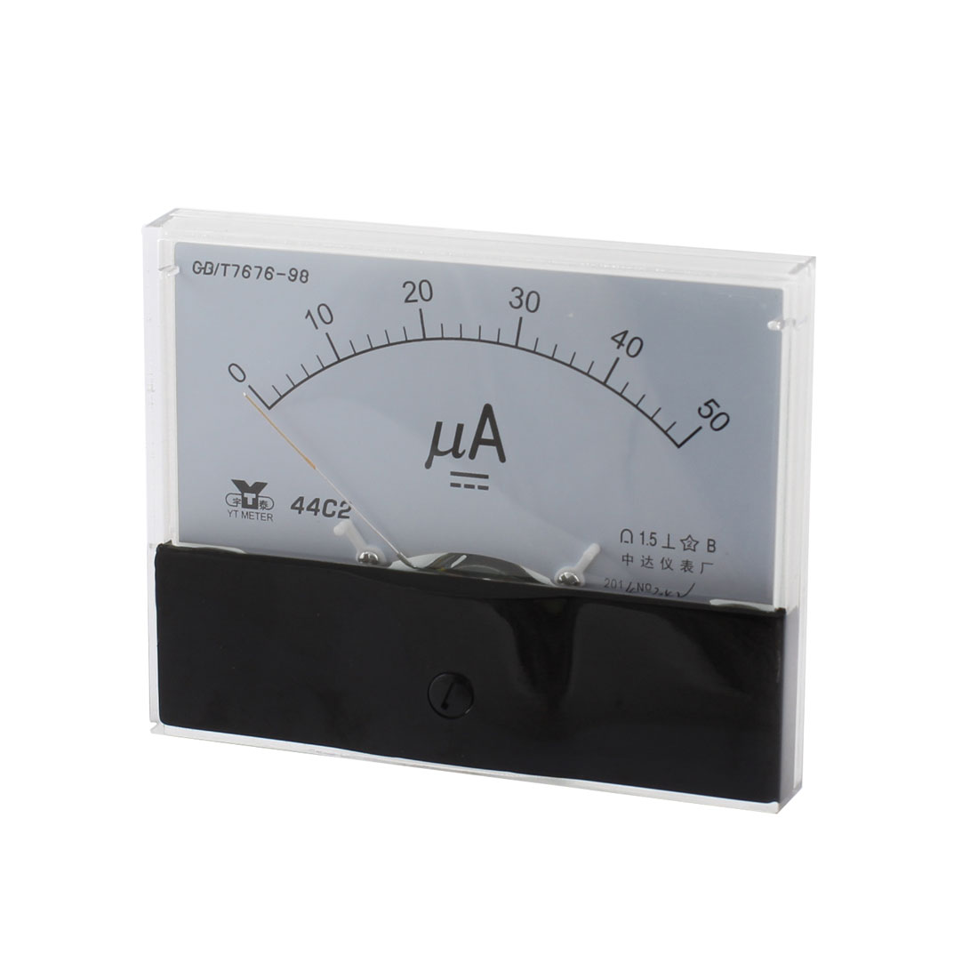Analog Rectangle Panel 0-50uA Gauge DC Current Meter 44C2