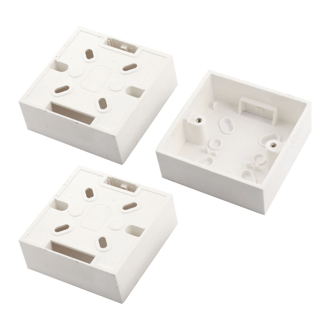 3Pcs 86mmx86mmx33mm Square Mount Back Box for Wall Socket