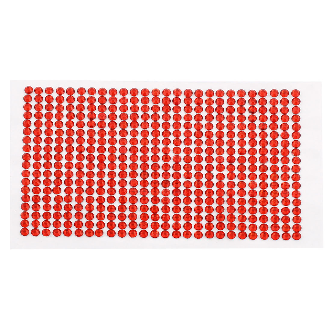 Vehicle Home DIY Decorating Red Crystal Sticker Sheet 16cm x 10cm 468 in 1