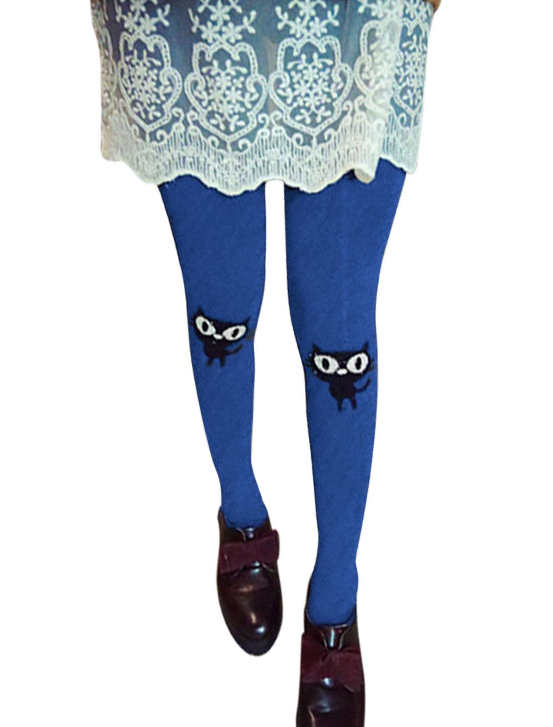 Elastic Waist Full Length Casual Legging for Women Royal Blue XS