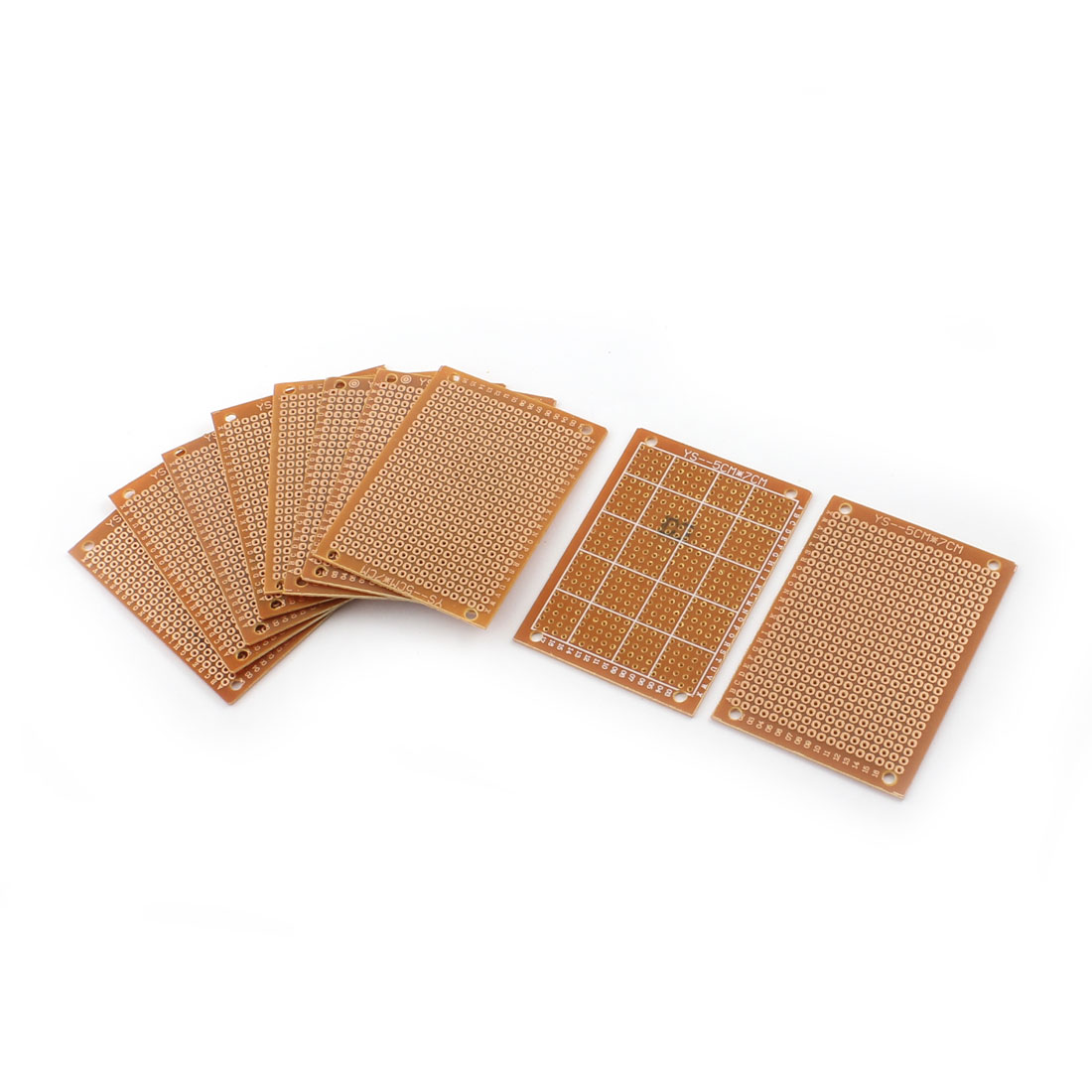 10pcs 5*7 5x7cm DIY Solder Finished Prototype PCB Circuit Board Breadboard