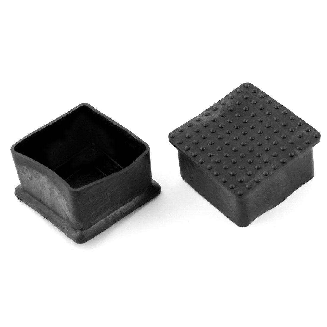 Furniture Chair Table Square Leg Protector Rubber Foot 50mmx50mm 2Pcs