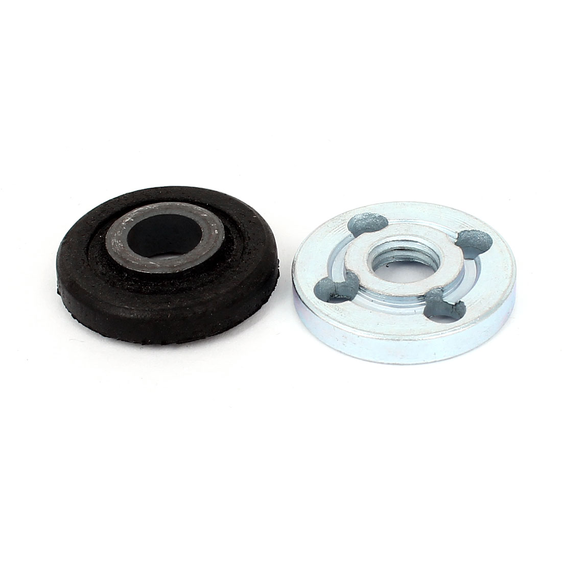 Pair Round Clamp Inner Outer Nuts Flange Fixing for Bosch Angle Grinder