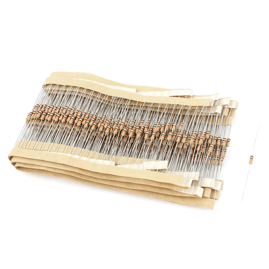 500pcs 1/4W 10K Ohm 5% Electronic Components Carbon Film Resistor