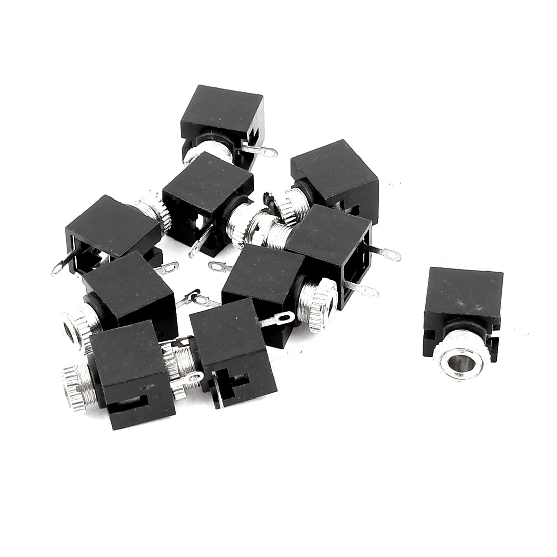 10Pcs 3P 3.5mm Female Headphone Audio Jack Socket PCB Mount Connector