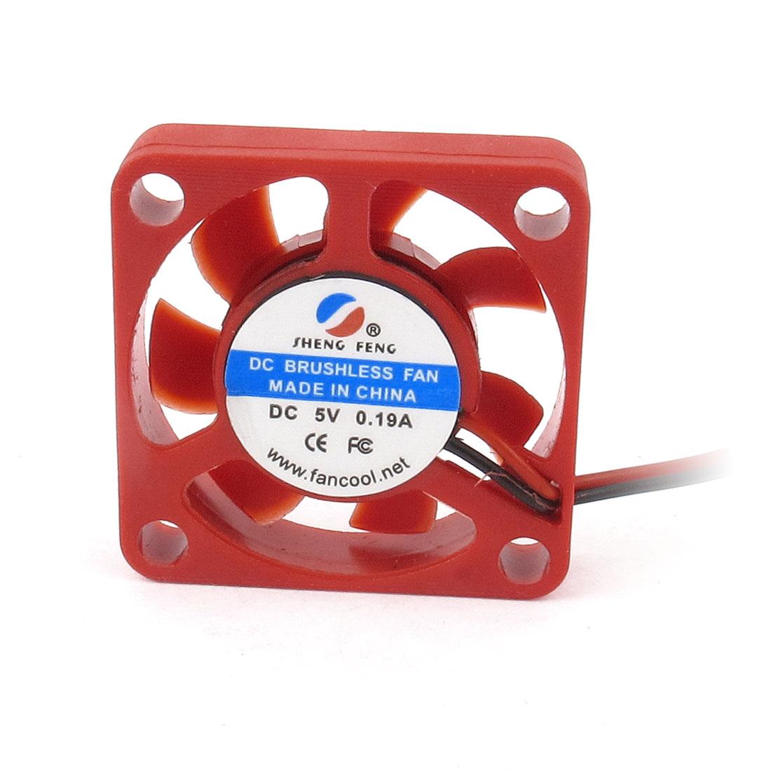 DC5V 0.19A 30mm x 30mm x 7mm Brushless Heatsink Cooler DC Cooling Fan