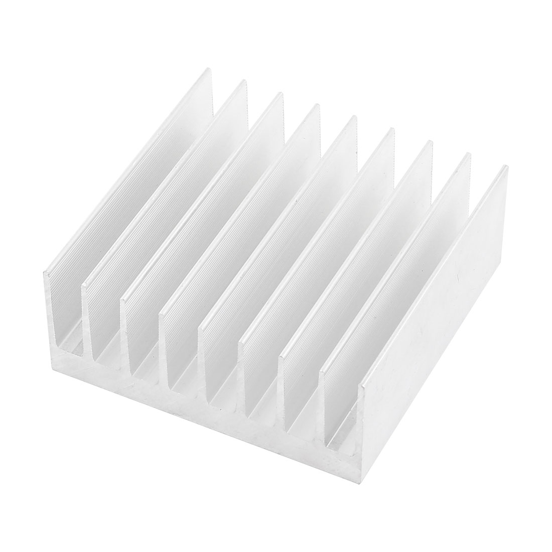 Silver Tone Aluminium Radiator Heatsink Heat Sink 100x100x40mm